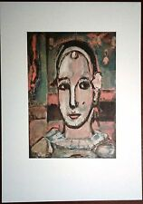 Stampa GEORGES ROUAULT Pierrot Grafica Arte Edizioni Seat 1988