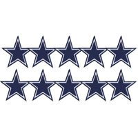"""10 pcs Dallas Cowboys Star Badge Logo Size 3.0""""x3.0"""" Embroidered Iron on Patch"""