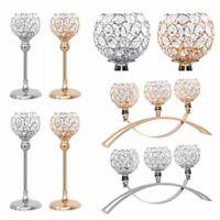 Crystal Globe Candle Holder Candelabra Tea Light Stand Wedding Even Table Decor