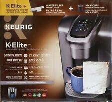 Keurig C K-Elite Maker Brushed Silver Plus Filter Bundle