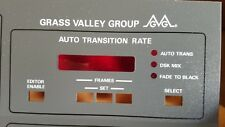 NEW!! GRASS VALLEY REPLACEMENT FACE-PLATE FOR MODEL 110 SWITCHER