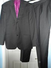 "Savile row company smart black 2-piece suit chest size 42"" waist 36"""