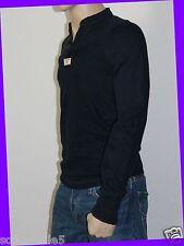 Abercrombie & Fitch Men's IRREGULAR MEDIUM M Henley Shirt NAVY BLUE