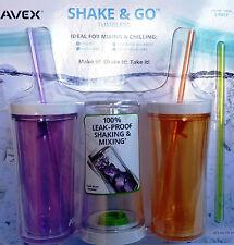 3X AVEX/Contigo Shake & Go Tumbler Ice Tea Beverage Water Bottle Cup