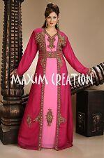 Dubai wedding gown,Royal kaftan fancy abaya jalabiya Arabic khaleeji party 4434