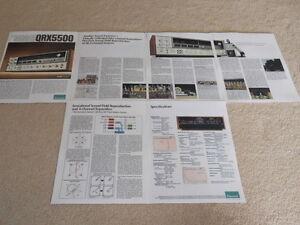 Sansui QRX-5500 Quad Empfänger Prospekt, 6 Seiten, Info, Brille Sq