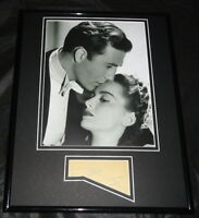 Jeffrey Lynn Signed Framed 11x14 Photo Display Four Daughters