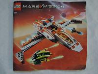 LEGO Bauanleitung / Instruction Mars Mission 7647 ungelocht