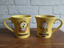 More details for cogsworth and lumiere mugs disney beauty and the beast