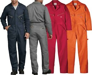 Dickies 48700 Deluxe Coveralls Mens Cotton Twill Long Sleeve Work NWT New W Tags