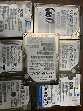 "LOT OF 10- 250GB 2.5"" SATA Laptop HDD Mix Brand Seagate WD Hitachi - TESTED"