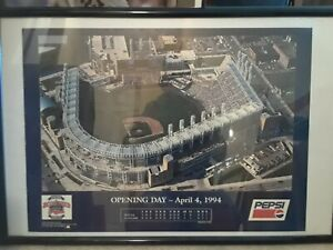 Jacobs Field Cleveland Indians Opening Day  Poster 1994 18 x 25