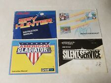 4x - NES Manuals Spy Hunter Silent Service American Gladiators & More - See Pic