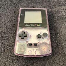 Console Nintendo Game Boy Color Clear Purple Vitre verre neuve EUR