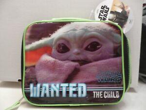 "Lunch Bag Star Wars Mandalorian ""The Child""  Baby Yoda Insulated NWT"