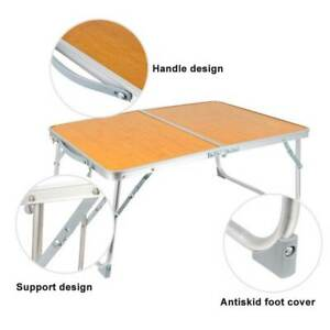 Folding Table Camping Bamboo Board Table Portable Camping Equipment Computer SUP