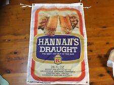 Hannan's draught vb  xxxx fourex beer  man cave flag emu bitter swan lager cub