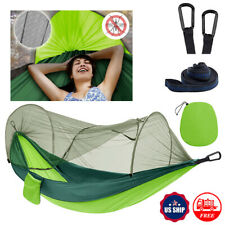 Outdoor Portable Hammock Mosquito Net Rain Tent Camping Cover Waterproof Bed