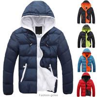 Fashion Men Boy Winter Warm Hooded Thick Padded Jacket Zipper Slim Outwear Coat