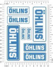 Ohlins Fork Shock Stickers Set Aprilia Ducati Kawasaki Graphics Laminated Decals