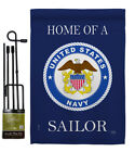 Home of Navy Sailor Garden Flag Armed Forces Decorative Gift Yard House Banner