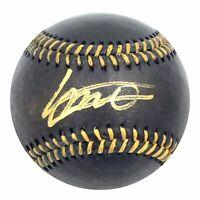 Vladimir Guerrero Jr Signed Auto OMLB Black Baseball Blue Jays Top Prospect COA