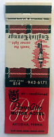 Vintage Matchbook Cover PENN ALTO MOTOR HOTEL ENGLISH LOUNGE Altoona PA Unstruck