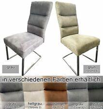 Schwingstuhl JD5082B Sitz Rücken gepolstert mit Griff Gestell Edelstahl 2er Set