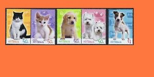 2004 Cats and Dogs Set 5 MNH