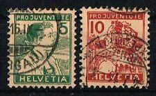 Schweiz 1915 Michel 128 - 129 Pro Juventute gestempelt