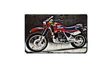 Etx 350 Motorbike Sign Metal Retro Aged Aluminium Bike