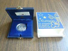 Vatican MMII 2002 John Paul II Europe Peace Project Silver 5 Euro PROOF Box Cert