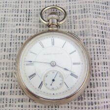 alte Taschenuhr Illinois Watch Co,Springfield USA 1914/15 Silber 900/-