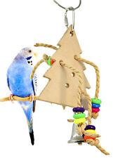 1066 Leather Christmas Tree parrot cage toys parakeet cockatiel conure quaker