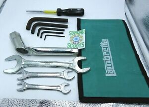 LAMBRETTA.  TOOL KIT. WITH TOOLS AND A GREEN STRONG NYLON WOVEN  POUCH