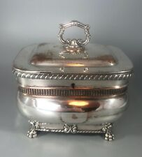 More details for george iii old sheffield plated tea caddy c1810 cezx