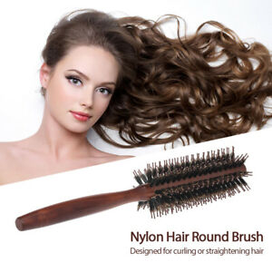 Round Hair Brush Nylon Bristle Short Nylon Hair Blow Drying Styling Roll Comb