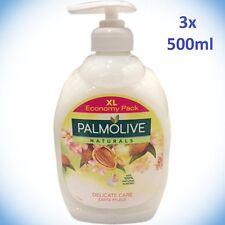 (EUR 8,59 / L)  3x Palmolive Naturals Zarte Pflege Creme Seife Mandel a 500ml