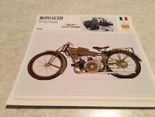 Ficha de moto colección Atlas motocicleta moto Guzzi 500 typ normal 1921