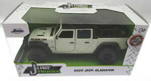 2020 Jeep Gladiator ~ White ~ Die Cast Metal ~ Just Trucks ~ 1:32 Scale