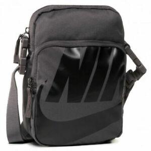 Nike Heritage 2.0 Messenger Crossbody Bag Dark Grey Black BA6344-082 Unisex