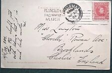 España 1909 PPC las palmas Plymouth Paquebot Manchester Brooklands freeuk franqueo
