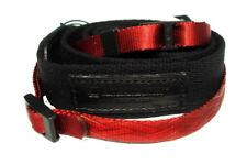 Artisan & Artist ACAM 117 Slim Fabric Camera Strap - Black with Red Tape