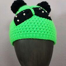 Sylt Brands Mütze grün mit Schleife und Perlen Limitiert