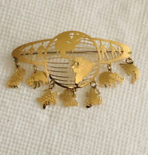 Vtg Wb Wild Bryde Bird Cat Butterfly Owl Elephant Frog Turtle Fish Pin Brooch