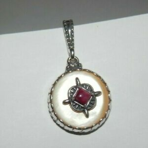 Carolyn Pollack Gold Mother of Pearl Sterling Silver Charm Enhancer