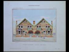 ZUYDCOOTE, COTTAGES - 1906 - GRANDE PLANCHE COULEUR- CHARLES BOURGEOIS