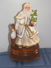"Musical Celebrations ""White Christmas"" Santa Claus Figurine Music Box Sri Lanka"