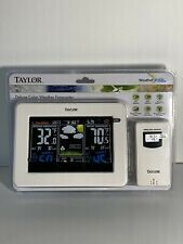 Taylor 1736 Deluxe Digital Color Weather Forecaster Station Standing Brand New