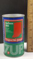 Indiana 1976 7up United We Stand Can Flat Pull Tab Top 1 of 50 Rare Vintage